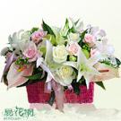 粉彩精緻盆花