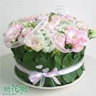 粉漾玫瑰蛋糕花禮