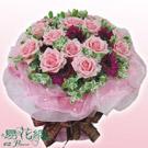 花漾美人粉玫瑰花束