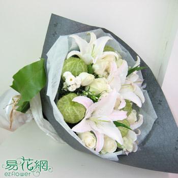 歐式香氛香水百合花束