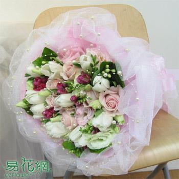 紅粉佳人玫瑰花束