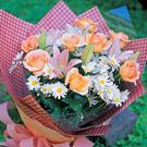 ezFlower網路花店:春之花影香檳玫瑰花束